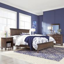 Marie King Bed, Nightstand and Dresser With Mirror