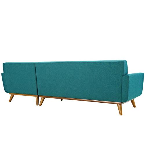 Modway - Engage Right-Facing Sectional Sofa in Teal