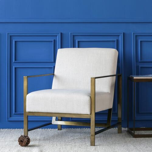 Francis Fabric Arm Chair, Shortbread