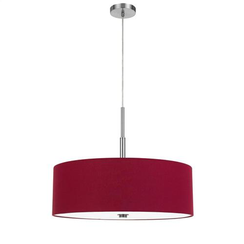 60W x 4 Lonoke pendant fixture with hardback drum shade
