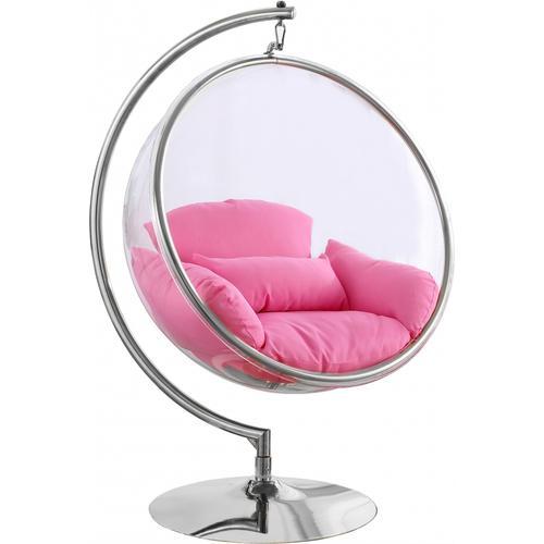"Luna Acrylic Swing Bubble Accent Chair - 41.5"" W x 29.5"" D x 64"" H"