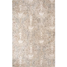 Best Seller Carrera Damask Rug, STONE, 1X1