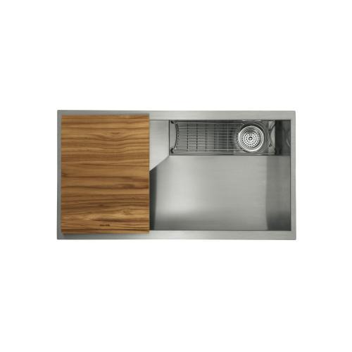 "33"" Stainless Steel Kitchen Sink with Standard Accessories"