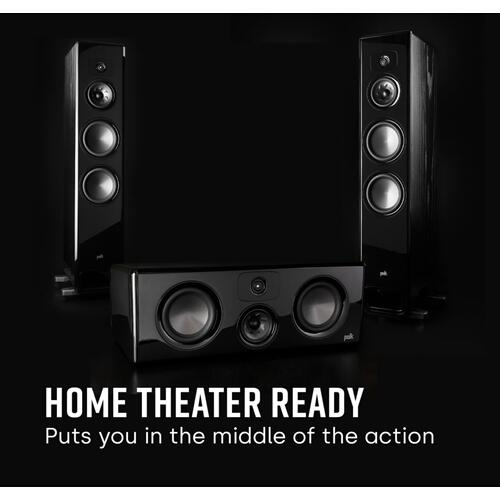 Legend Series Home Theater Center Channel Speaker in Brown Walnut
