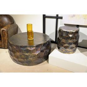 Honeycomb Side Table - Oilslick Finish