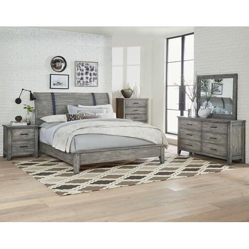 Nelson Grey 5-Drawer Chest, Weathered Grey