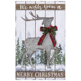 Merry Christmas Deer Plaque - We wish you a Merry Christmas