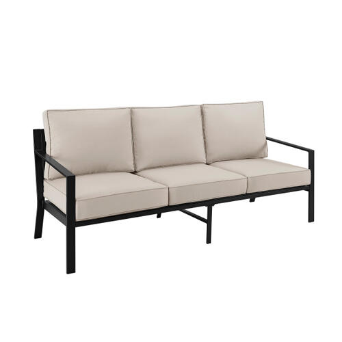 Slat Back Outdoor Sofa 1 of 2