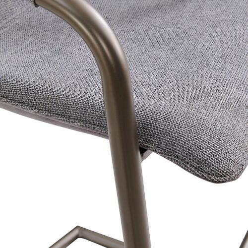 Indy Fabric Bar Stool Silver Frame, Sage Gray/Velvet Gray