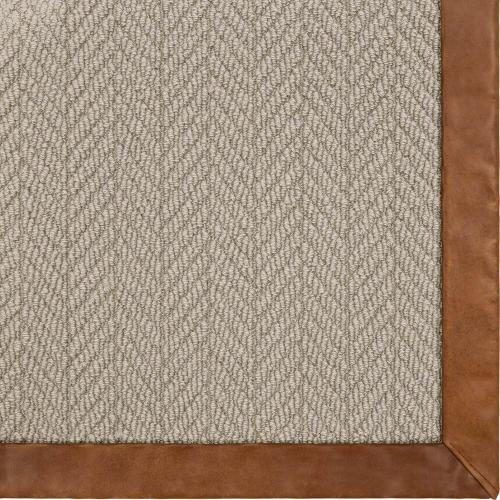 Alderney Tradition 2'x3' / Leather Border