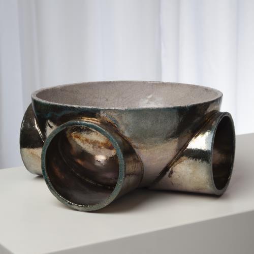 Tube Sculpture-Raku