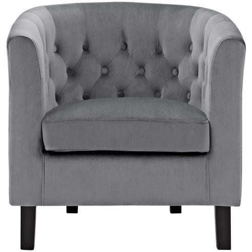Modway - Prospect Performance Velvet Armchair in Gray