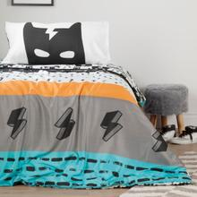 Dreamit - Superheroes Comforter and Pillowcase, Black and White, Twin
