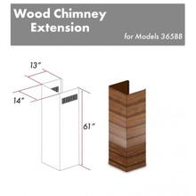 """See Details - ZLINE 61"""" Wooden Chimney Extension for Ceilings up to 12.5 ft. (365BB-E)"""