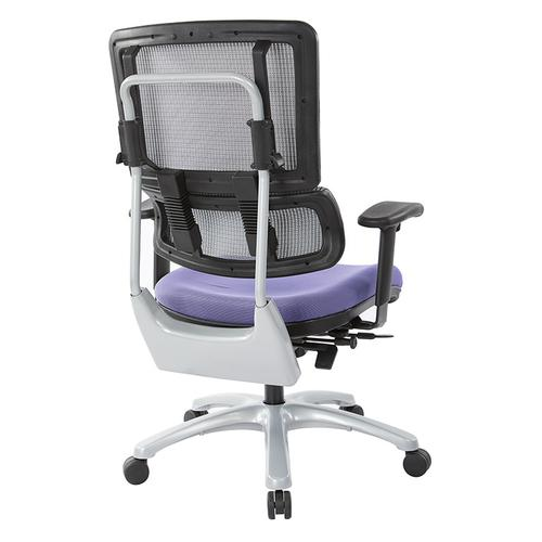 Office Star - Vertical Grey Mesh Back Chair With Silver Base