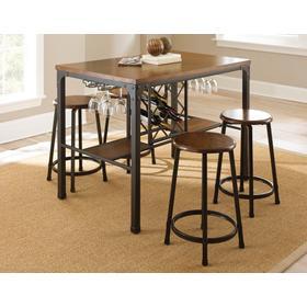Rebecca 5 Piece Counter Set (Counter Table & 4 Counter Stools)