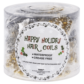 Happy Holidays Hair Coils (36 pc. ppk.)