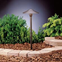"8"" Dome 12V Path Light Textured Architectural Bronze"