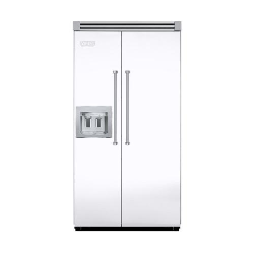 """Viking - White 42"""" Quiet Cool™ Side-by-Side with Dispenser - VISB Tru-Flush™ (42"""" wide)"""