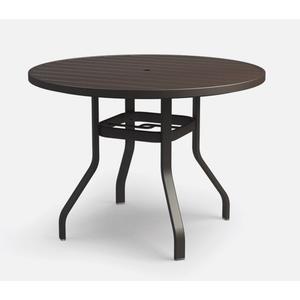 """48"""" Round Balcony Table (with Hole) Ht: 34"""" 37XX Universal Aluminum Base (Model # Includes Both Top & Base)"""