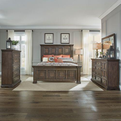 Gallery - King California Panel Bed, Dresser & Mirror, Chest