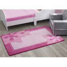 Girls Soft Kids Area Rug (2.5 ft x 4 ft) - Floral Pinks (2000)
