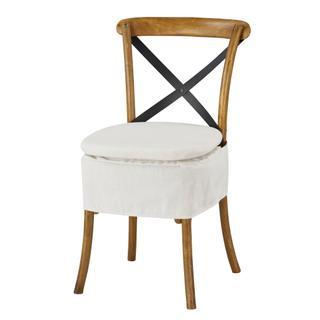 See Details - Short X-back Cushion (washable White)