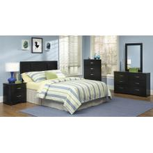 Black Twin Headboard, Chest, and Frame