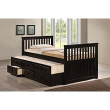 7590 CAPPUCCINO Wooden Platform Bed - TWIN