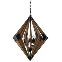 60W X 9 Arezzo Wood Chandelier