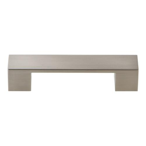 Wide Square Pull 3 3/4 Inch (c-c) - Brushed Nickel