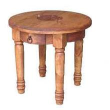 See Details - Round End Table W/star