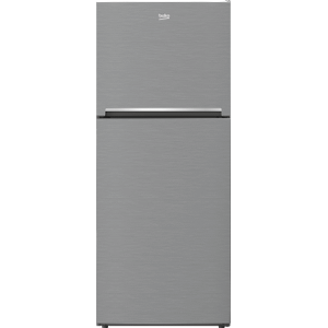"""Beko28"""" Freezer Top Stainless Steel Refrigerator with Auto Ice Maker and Everfresh+"""