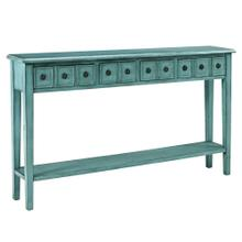 Teal Long Console