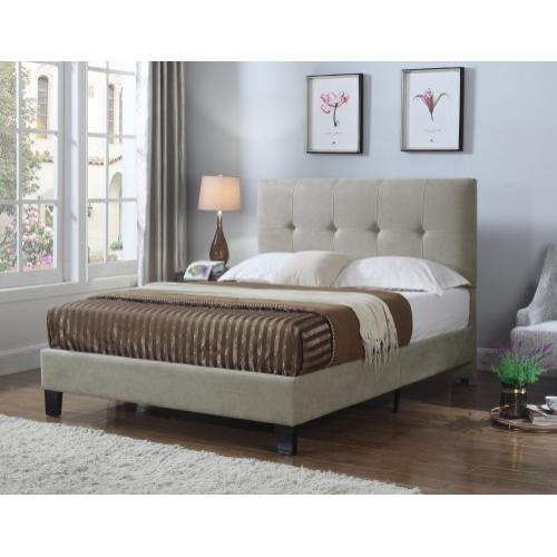Emerald Home Harper Upholstered Bed Kit King Taupe B129-12hbfbr-05