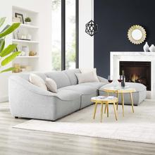 Comprise 4-Piece Living Room Set in Light Gray