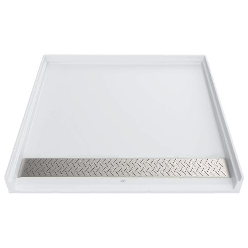 DXV Modulus 38x38-inch ADA Solid Surface Shower Base - Canvas White