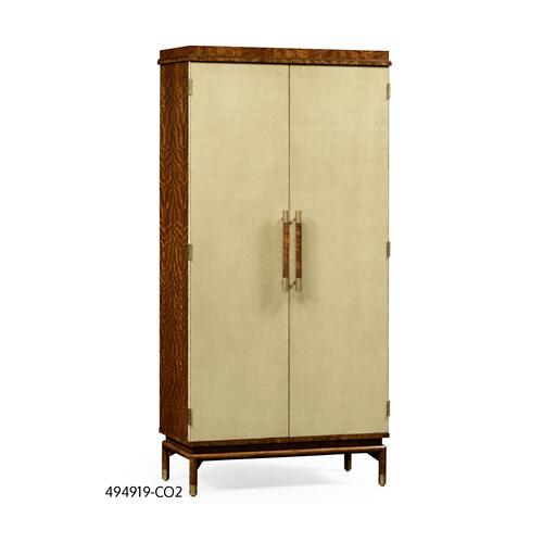 Hyedua and celadon finish tall drinks cabinet