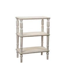Three Tier Beaded Edge Side Table