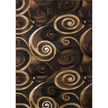 DA-414 CHOCOLATE Abstract Small Swirl Rug