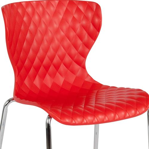 Flash Furniture - Lowell Contemporary Design Red Plastic Stack Chair