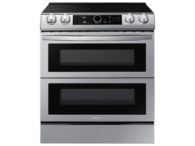 Samsung6.3 Cu Ft. Smart Slide-In Electric Range With Smart Dial, Air Fry, & Flex Duo™ In Stainless Steel