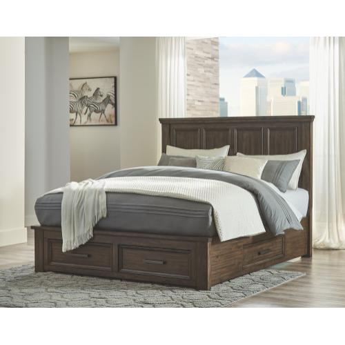 Johurst King Panel Bed With 4 Storage Drawers