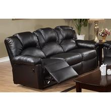 Izem Reclining/Motion Loveseat Sofa or Recliner, Black-bonded-leather, Motion-sofa