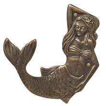Mermaid Towel Hook (left) - French Bronze