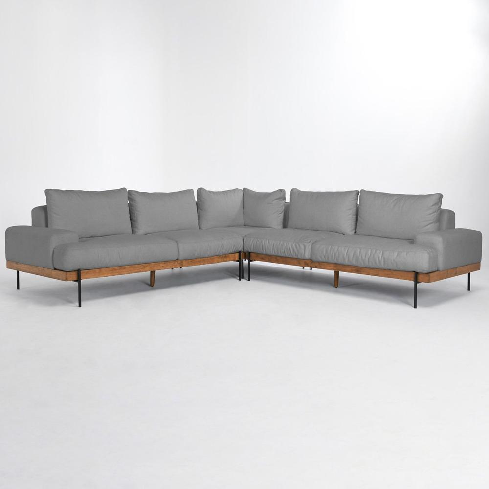 See Details - Faro Sectional Light Gray