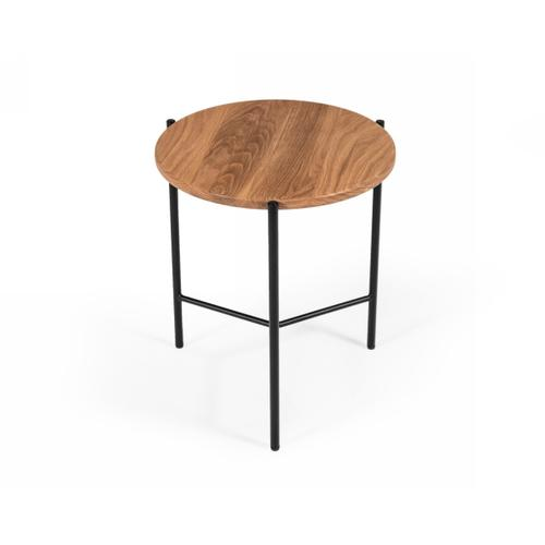 Modrest Bacone - Industrial Oak and Black Iron End Table