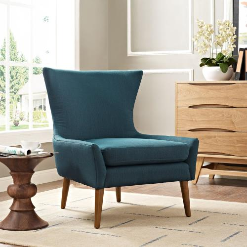 Keen Upholstered Fabric Armchair in Azure
