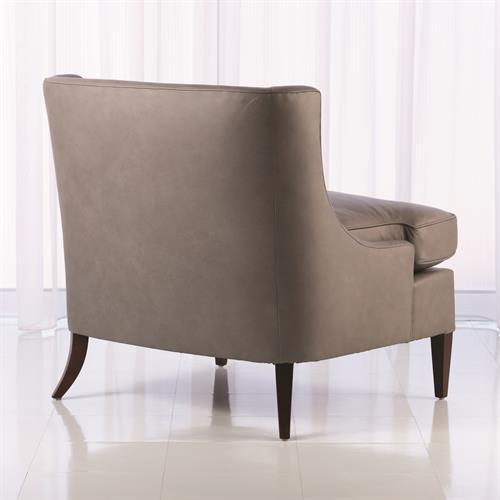 Severn Lounge Chair-Grey Leather