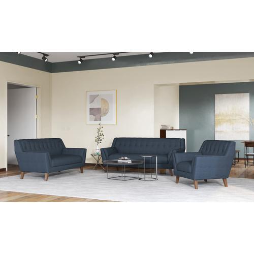 Binetti Sofa, Navy Peacock U3216-00-04